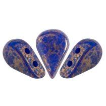 Amos® par Puca®gyöngy - Opaque Sapphire Bronze - 5x8 mm