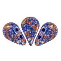 Amos® par Puca®gyöngy - Opaque Sapphire Tweedy - 5x8 mm