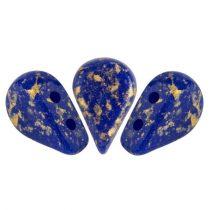 Amos® par Puca®gyöngy - Opaque Sapphire Splash - 5x8 mm
