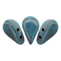 Amos® par Puca®gyöngy - Opaque Aqua Bronze - 5x8 mm