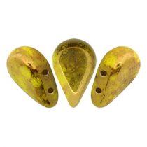 Amos® par Puca®gyöngy - Opaque Jonquil Bronze - 5x8 mm