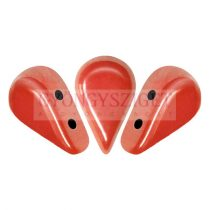 Amos® par Puca®gyöngy - Opaque Light Coral Luster - 5x8 mm