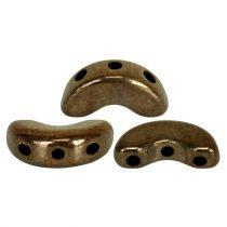 Arcos® par Puca®gyöngy - golden bronz - 5x10 mm