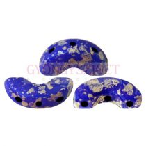 Arcos® par Puca®gyöngy - Opaque Sapphire Splash - 5x10 mm