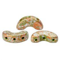 Arcos® par Puca®gyöngy - Opaque Green Tweedy - 5x10 mm