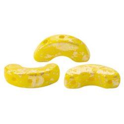 Arcos® par Puca®gyöngy - Opaque Jonquil Splash - 5x10 mm
