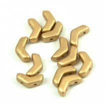 Arrow - cseh kétlyukú gyöngy - Aztec Gold - 5x8mm