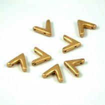 AVA® - Cseh kézzel préselt 3 lyukú gyöngy - aztec gold - 10x4mm