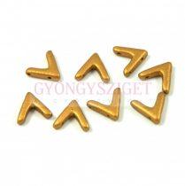 AVA® - Cseh kézzel préselt 3 lyukú gyöngy - brass gold - 10x4mm
