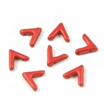 AVA® - Cseh kézzel préselt 3 lyukú gyöngy - lavared - 10x4mm