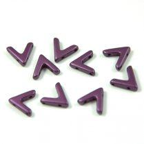 AVA® - Cseh kézzel préselt 3 lyukú gyöngy - pastel deep purple - 10x4mm