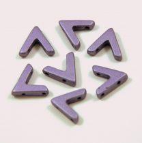 AVA® - Cseh kézzel préselt 3 lyukú gyöngy - polichrome metallic lilac - 10x4mm