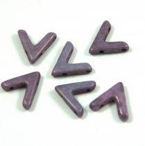 AVA® - Cseh kézzel préselt 3 lyukú gyöngy - white vega luster - 10x4mm