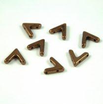 AVA® - Cseh kézzel préselt 3 lyukú gyöngy - Bronze - 10x4mm