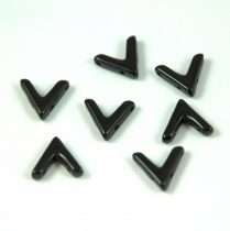 AVA® - Cseh kézzel préselt 3 lyukú gyöngy - jet - 10x4mm