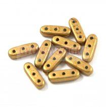 Czech Mates Beam - háromlyukú hasáb  - Saturated Metallic Spicy Mustard  - 3x10mm