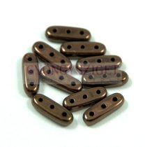 Czech Mates Beam - háromlyukú hasáb  - Dark Bronze - 3x10mm
