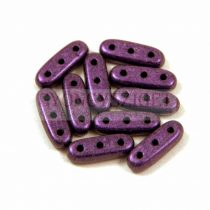 Czech Mates Beam - háromlyukú hasáb  - Matte Metallic Purple - 3x10mm