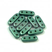 Czech Mates Beam - háromlyukú hasáb  - Matte Metallic Light Green- 3x10mm