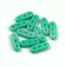 Czech Mates Beam - háromlyukú hasáb  - Turquoise Green - 3x10mm