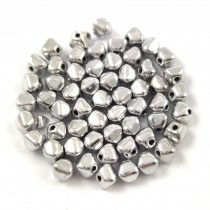 Cseh üveg gyöngy - Bicone - 4mm - Silver
