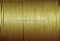Gömbölyített bőrszál - arany - 2mm
