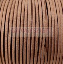 Hasított bőrszál - barna - 3x2mm