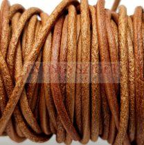 Gömbölyített bőrszál - nyers - barna - 2mm