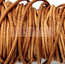 Gömbölyített bőrszál - nyers - világos barna - 1,5mm