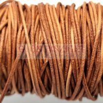 Gömbölyített bőrszál - nyers - világos barna - 1mm