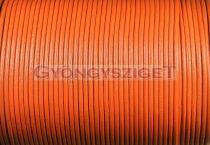 Gömbölyített bőrszál - orange - 2mm