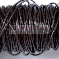 Gömbölyített bőrszál - sötét barna - 1.5mm