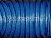Gömbölyített bőrszál - sötét kék - 2mm