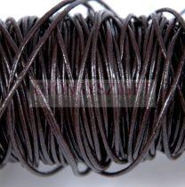 Gömbölyített bőrszál - sötét barna - 1mm