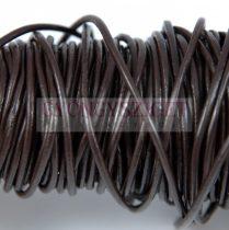 Gömbölyített bőrszál - sötét barna - 2mm