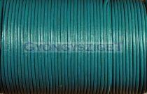 Gömbölyített bőrszál - tengerzöld - 2mm