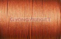 Gömbölyített bőrszál - vörösréz - 2mm