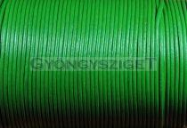 Gömbölyített bőrszál - zöld - 2mm