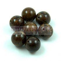 Bronzit - Antik - golyó alakú ásvány gyöngy - 10mm