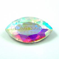 Üveg kaboson - navette - 31x17mm - crystal ab