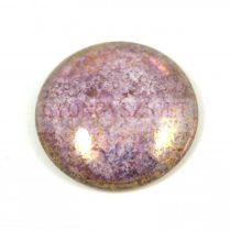 Cseh üveg kaboson - crystal violet bronze- 25mm