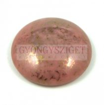 Cseh üveg kaboson - mauve bronze - 25mm