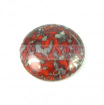 Cseh üveg kaboson - coral red bronze picasso - 25mm