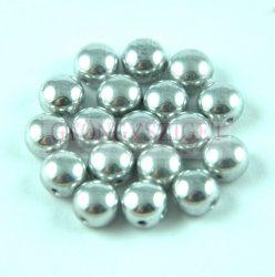 Candy - Cseh préselt kétlyukú gyöngy - Silver - 8mm