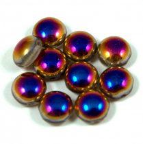 Candy - Cseh préselt kétlyukú gyöngy - Crystal Sliperit - 8mm