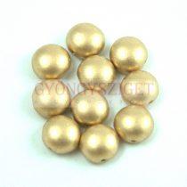 Candy - Cseh préselt kétlyukú gyöngy - Aztec Gold - 8mm