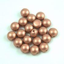Candy - Cseh préselt kétlyukú gyöngy - Matte Metallic Copper - 6mm