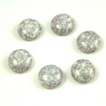 Candy - Cseh préselt kétlyukú gyöngy - Alabaster Gray Terracotta - 12mm