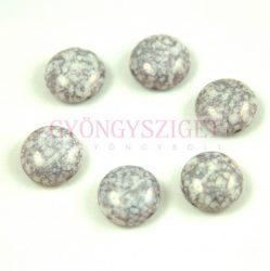 Candy - Cseh préselt kétlyukú gyöngy - Alabaster Gray Terracotta - 6mm