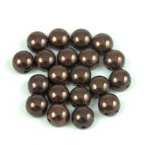 Candy - Cseh préselt kétlyukú gyöngy - Eggplant Bronze - 6mm